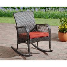 mainstays cambridge park wicker rocking chair topoffersmall com