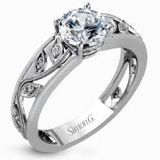 leaf and vine engagement ring engagement rings halo vintage and antigue princess cut