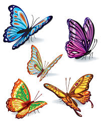 18 butterfly designs vector images white butterfly vector