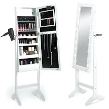 Cosmetic Cabinet Jewelry Mirrored Armoire Wooden Makeup Cabinet Furniture Free