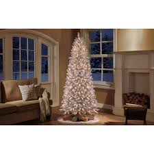 holiday time pre lit 9 u0027 slim winter frost pine artificial