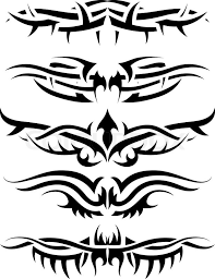 patterns of tribal tattoo for design use vector illustration