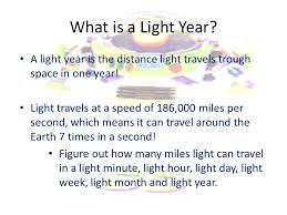 How many light years old are you ppt download