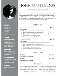 Resume Word Document Template Sample Resume In Doc Format Resume Doc Template Doc Templates New