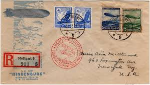 Which Side Of The Envelope Does The Stamp Go On Hindenburg Covers Airships Net