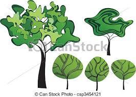 set of creative trees set of creative vector trees vector clip