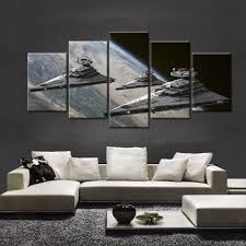 aliexpress com buy 5 panels movie poster star wars star aliexpress com buy 5 panels movie poster star wars star destroyer modern home wall decor canvas picture art hd print painting on canvas artworks from