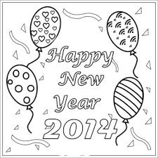 happy new year preschool coloring pages blank card happy new year coloring 2014 for cute kids coloring point