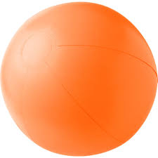 solid colour inflatable beach ball brandability