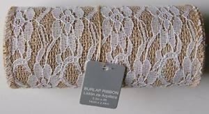 burlap and lace ribbon burlap and lace ribbon roll 5 5 x 8 new free shipping ebay