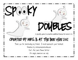 halloween math spooky doubles addition by the bee hive tpt