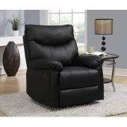Black Leather Recliner Flash Furniture Deluxe Massaging Leather Recliner And Ottoman