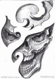 flaming skull horror tattoo design photo 1 photo pictures and