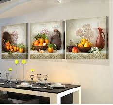painting for kitchen 3 pcs oil painting for kitchen fruit home decor modern canvas