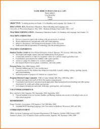 Resume Examples For Teachers Cv Template Graduate Resume Template On Word For Mac
