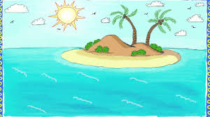 drawing a simple island how to draw an island drawing for kids
