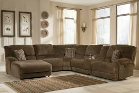 good sectional sofa with chaise recliner and sleeper 87 in