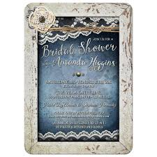 wedding invitations quincy il rustic lace and denim bridal shower invitation showers