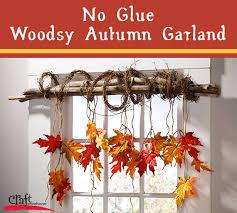 fall garland make this pretty no glue woodsy autumn garland for fall