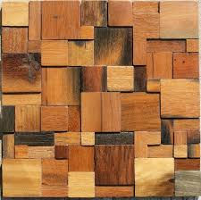 wood mosaic tile rustic wood wall tiles backsplash nwmt007