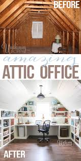 Main Website Home Decor Renovation by Attic Turned Office Renovation Amazing Diy And Home Decor