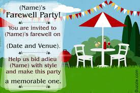 farewell party invitation wording brilliant farewell party