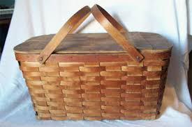 vintage picnic basket so domestic