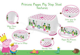 peppa pig step stool slip feet princess peppa amazon