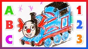 thomas tank engine drawing coloring counting preschool