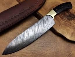 Damascus Steel Kitchen Knives Handmade Xl Couteau De Cuisine En Acier Damas Damascus Steel