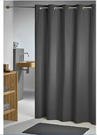 Gray Shower Curtains Fabric Black And Gray Fabric Shower Curtain With Metallic Silver