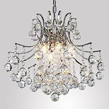 Light Fixture Chandelier Locoâ Chrome Finish Crystal Chandelier With 3 Lights Mini Style