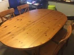 Oval IKEA Leksvik Dining Table With  Chairs In Adamsdown - Ikea leksvik drop leaf dining table
