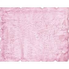hawthorne collection 3 u0027 x 5 u0027 faux sheepskin area rug in pink