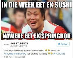 Japan Memes - our big 5 springbok vs japan internet memes 2oceansvibe com