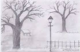 pencil art drawings beginners easy pencil sketches of landscapes