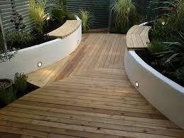 Decking Garden Ideas Garden Decking Ideas With Narrow Subway Installed To Make It Looks