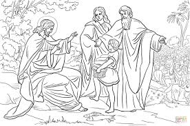 jesus feeds 5000 people coloring page and coloring page theotix me