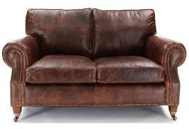 Small Sofa Leather Hepburn Shabby Chic Vintage Leather Small 2 Seater Sofa Shabby
