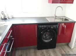 cuisine avec lave linge électroménager intégrable ou pose libre heureux le bien installé