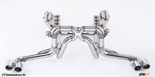 chrome ferrari f430 sport exhaust stainless ipe innotech valves for ferrari f430 coupe