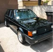 1986 dodge charger shelby turbo for sale 36k mile 1986 dodge omni shelby glhs bring a trailer