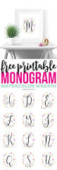 printable home decor these printable watercolor monogram wreaths are gorgeous a