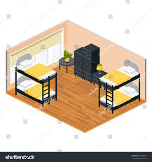 window coffee table plans livingroom hostel two bunk beds wardrobes stock vector 553920010