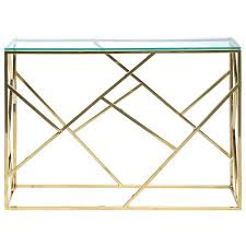 stainless steel console table luvish glass stainless steel console table 115cm gold 399 00