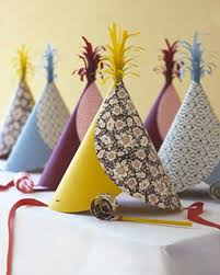 pattern blocked party hats u0026 video martha stewart