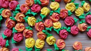 Fall Cake Decorations Sale Mini Fall Color Royal Icing Rosettes Ready To Ship