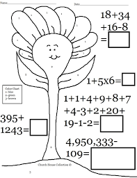coloring pages fun math color by number worksheet printable