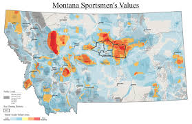 Map Montana Montana Sportsmen U0027s Value Mapping Theodore Roosevelt