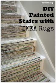 Rugs At Ikea by Before U0026 After Diy Painted Stairs Makeover Thrift Diving Blog